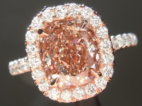 Pink Diamond Ring: 2.26ct Fancy Pink-Brown SI1 Cushion Cut GIA Massive Pink Beauty R4800