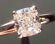 SOLD.....  Diamond Ring: 1.07ct K/VVS2 Cushion Cut GIA Hand Forged Solitaire R4809