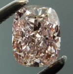 SOLD....Loose Pink Cushion: .41ct Fancy Pinkish-Brown SI2 Cushion Cut GIA Beautiful Cut R4819