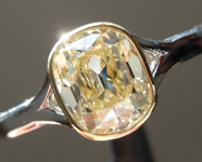 SOLD...Old Mine Brilliant Ring: 1.05ct Y-Z VS1 Branded DBL Modern Antique Diamond GIA Bezel Set Ring R4766