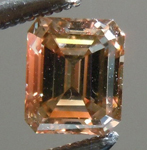 SOLD.... Orangy Brown Diamond: .51ct Fancy Dark Orangy Brown VVS2 Emerald Cut GIA Lovely Steps R4827