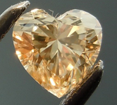 Yellow Brown Diamond: .52ct Fancy Light Yellow Brown SI2 Heart Shape Amazing Sparkle R4829