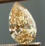 SOLD....Yellowish Brown Diamond: .45ct Fancy Light Yellowish Brown VS2 Pear Shape Lovely Shape R4831