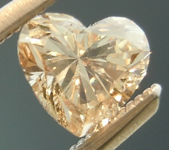SOLD....Brown Diamond: .49ct Fancy Light Brown SI1 Heart Shape Fantastic Cut R4833