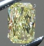 SOLD....Loose Yellow Diamond: .39ct Fancy Yellow VS1 Radiant Cut Tall Beauty R4838