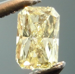 SOLD...Loose Yellow Diamond: .19ct Fancy Light Yellow VS1 Radiant Cut Lovely Stone R4839