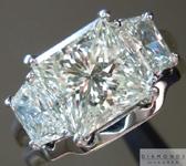SOLD....Diamond Wedding Set: 2.36ct N/VS1 Princess Cut with Trapezoidal Sides and Matching Wedding Band GIA R1236