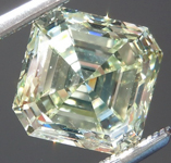 Greenish Yellow Diamond: 3.00ct Fancy Light Greenish Yellow VS2 Asscher Cut GIA Rare Beauty R4857