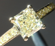 SOLD....Yellow Diamond Ring: 1.01ct Y-Z VVS2 Radiant Cut GIA Yellow Diamond Pave  R4853