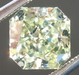Greenish Yellow Diamond: 1.30ct Fancy Light Greenish Yellow SI1 Radiant Cut GIA Cool Color R4854