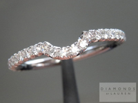Diamond Wedding Band: Fitted Micro Pavé Diamond Wedding Band in Platinum SO4386