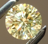 SOLD....Loose Yellow Diamond: .38ct Fancy Light Yellow I1 Round Brilliant GIA Rare Beauty R4888