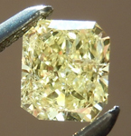 SOLD....Loose Yellow Diamond: .40ct Fancy Light Yellow I1 Radiant Cut GIA Beautiful Sparkle R4890