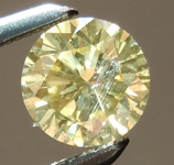 SOLD...Yellow Diamond: .49ct Fancy Brownish Yellow I1 Round Brilliant Beautiful Color R4893