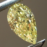 SOLD....Loose Yellow Diamond: .40ct Fancy Intense Yellow VS2 Pear Shape GIA Great Brilliance R4894