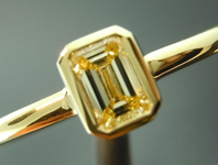 0.32ct Fancy Yellow VS2 Emerald Cut Diamond Ring R4898