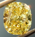 SOLD.....Loose Yellow Diamond: 1.50ct Fancy Intense Yellow I1 Cushion Cut GIA Eye Clean R4864