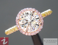 Crafted by Infinity Round Brilliant Diamond: 1.00ct J/I1 Ideal Cut AGSL Halo Ring R4904