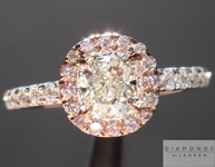 Colorless Diamond Ring: .62ct J SI1 Cushion Cut GIA Halo Ring R4916