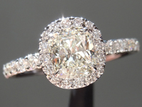 SOLD....Diamond Ring: .75ct J SI1 Cushion Cut GIA Hand Forged Diamond Halo Ring R4920