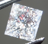 Loose Colorless Diamond: .72ct D VS1 Princess Cut GIA Beautiful Cut R4951