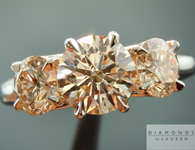 Faint Brown Diamond Ring: 2.05ctw K, Faint Brown Round Brilliant Three Stone Diamond Ring SPECIAL PRICE  R4870