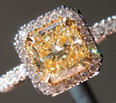 Loose Yellow Diamond: 1.07ct W-X VS2 Radiant Cut GIA Tremendous Sparkle R4978