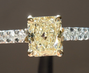 SOLD.....Yellow Diamond Ring: .83ct M VVS2 Radiant Cut GIA Underwire Ring R4959