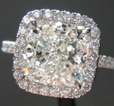 SOLD.... Colorless Diamond Ring: 3.01ct J VS2 Cushion Cut GIA Halo Ring R4874