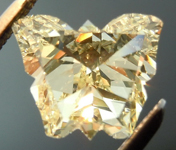 SOLD....Loose Yellow Diamond: .68ct Y-Z VS1 Butterfly Rose Cut GIA Cool Stone R4937