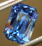Loose Sapphire: 2.24ct Blue Emerald Cut Sapphire Non-Heated R5023