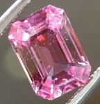 SOLD....Loose Sapphire: 1.12ct Pink Emerald Cut Sapphire Beautiful Cut R5026