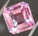 SOLD.... Loose Sapphire: 2.06ct Faint Pink Asscher Cut Sapphire Lovely Steps R5027