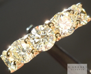 SOLD...Diamond Ring: 2.73cts O-P VS Round Brilliant Five Stone Wedding Band R4983