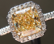 "Yellow Diamond: 1.62ct Y-Z VVS1 Radiant Cut GIA ""Uber Halo"" R5050"