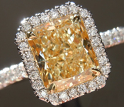 "SOLD....Yellow Diamond Ring: 1.72ct W-X VVS1 Radiant Cut GIA ""Uber"" Halo R5052"