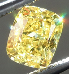 SOLD....Loose Yellow Diamond: .72ct Fancy Vivid Yellow VS2 Cushion Cut GIA Extraordinary Stone R5058