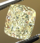 Loose Yellow Diamond: .83ct Fancy Light Yellow VVS2 Cushion Cut GIA Gorgeous Stone R5062