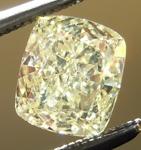 SOLD.... Loose Yellow Diamond: .83ct Fancy Light Yellow VVS2 Cushion Cut GIA Gorgeous Stone R5062