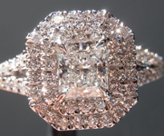 0.56ct E VS2 Radiant Cut Diamond Ring R5065