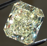 Loose Yellow Diamond: 5.18ct Fancy Light Yellow SI1 Radiant Cut GIA Incredible Specimen R5074