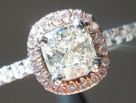 SOLD...Diamond Ring: .51ct K VS1 Cushion Cut GIA Pink Diamond Halo R5089