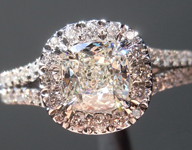 0.75ct J VS1 Cushion Cut Diamond Ring R5093