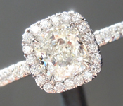 SOLD...Colorless Diamond Ring: .85ct I VVS1 Cushion Cut GIA Uber Halo R5094