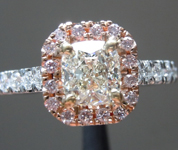 SOLD.....Diamond Ring: .78ct J VVS2 Cushion Cut GIA Pink Diamond Halo R5095