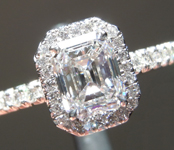 Colorless Diamond Ring: .87ct D VS1 Emerald Cut GIA Uber Halo R5121