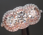 SOLD.... Diamond Ring: 1.02cts E VVS1 Excellent Cut Round Brilliant Pink Diamond Halo Ring GIA R5002