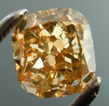 Loose Brown Diamond: 1.05ct Fancy Brown-Yellow SI1 Cushion Cut GIA Beautiful Color R5132