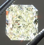 Loose Yellow Diamond: 1.00ct Fancy Light Yellow VS2 Radiant Cut GIA Sweet Stone R5034