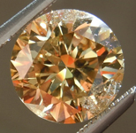SOLD.... Loose Brown Diamond: 1.90ct Fancy Deep Yellow Brown I1 Round Brilliant Coppery Color R5151